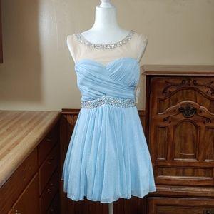 Deb Light Blue Prom Dress NWT Junior's 9